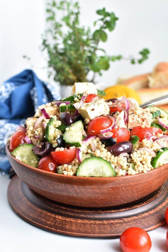 Gluten-Free Greek Millet Salad