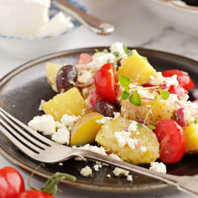 Greek Potato Salad Recipe-Light and Easy Greek Potato Salad-Healthy Potato Salad