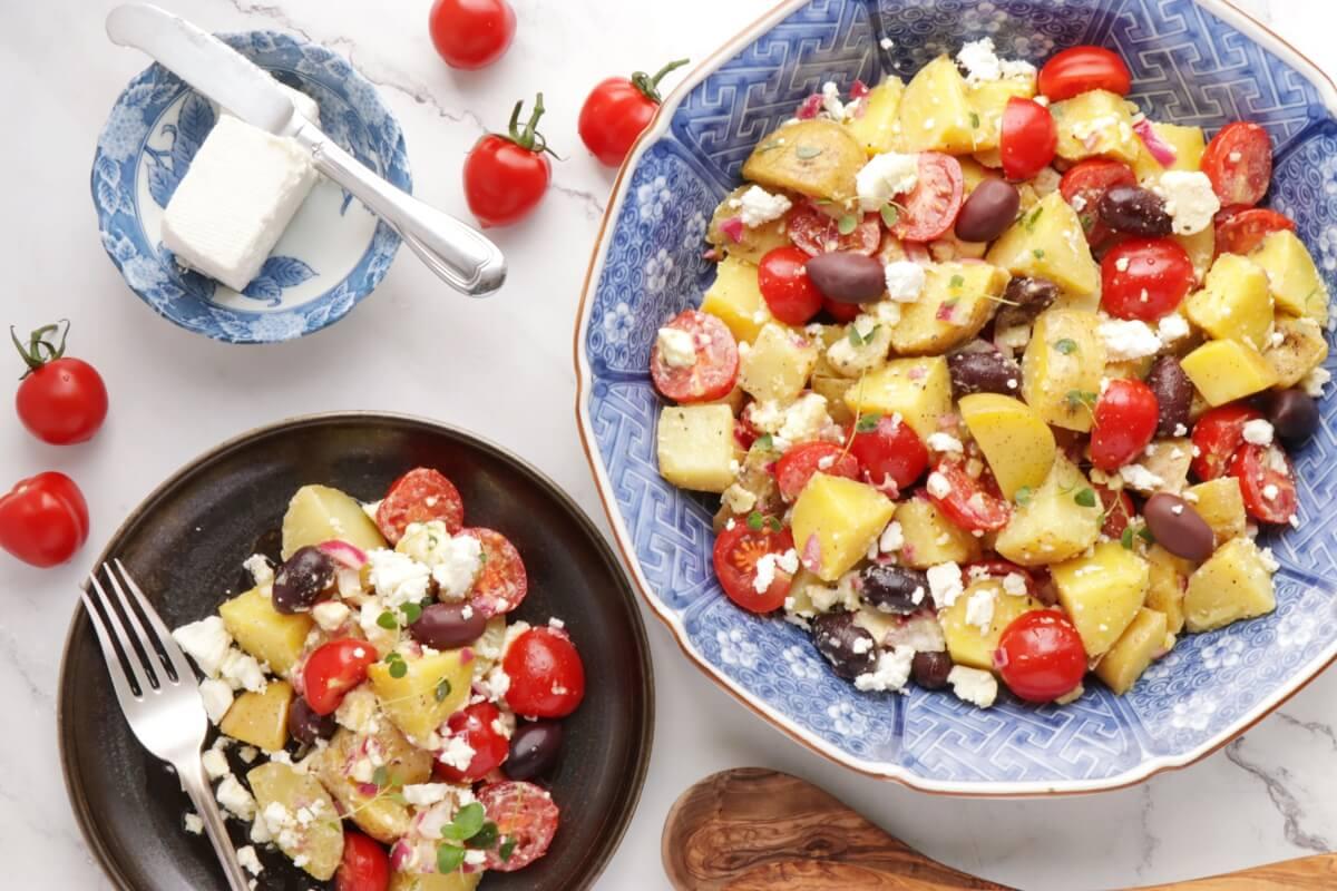 Greek Potato Salad Recipe-Light and Easy Greek Potato Salad-Healthy Potato Salad