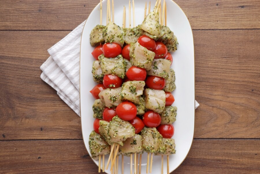 Grilled Chicken and Tomato Kebabs recipe - step 3