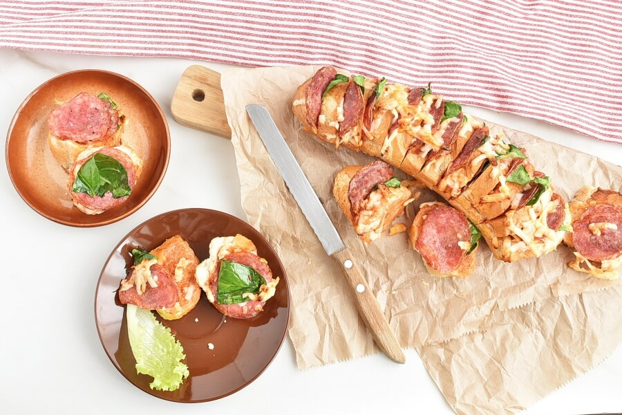 How to serve Hasselback Pizza Bread