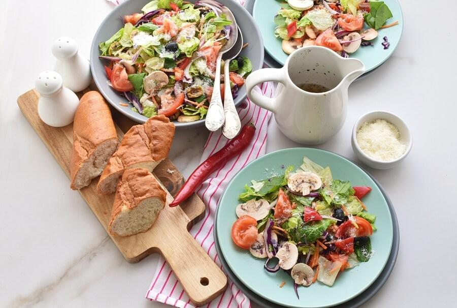 Italian Salad with Lemon Vinaigrette Recipes-Homemade Italian Salad with Lemon Vinaigrette-Easy Italian Salad with Lemon Vinaigrette