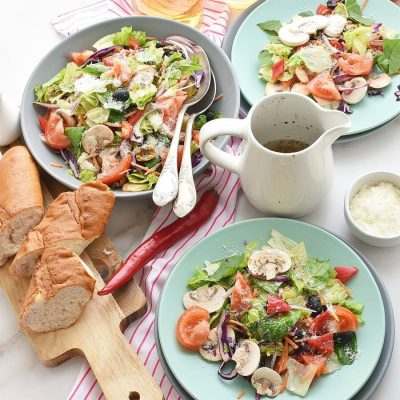 Italian Salad with Lemon Vinaigrette Recipes-Homemade Italian Salad with Lemon Vinaigrette-Easy Italian Salad with Lemon Vinaigrette