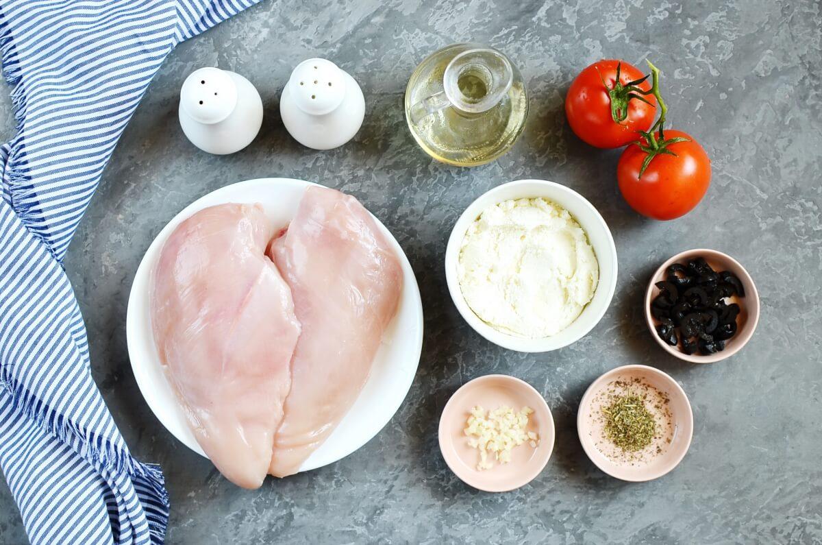 Ingridiens for Italian Stuffed Chicken