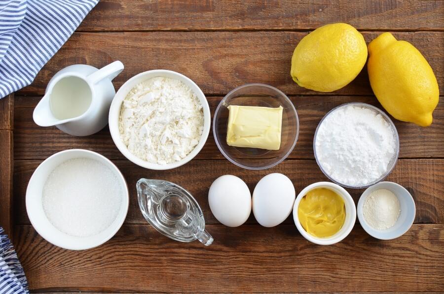 Ingridiens for Lemon Drizzle Slices