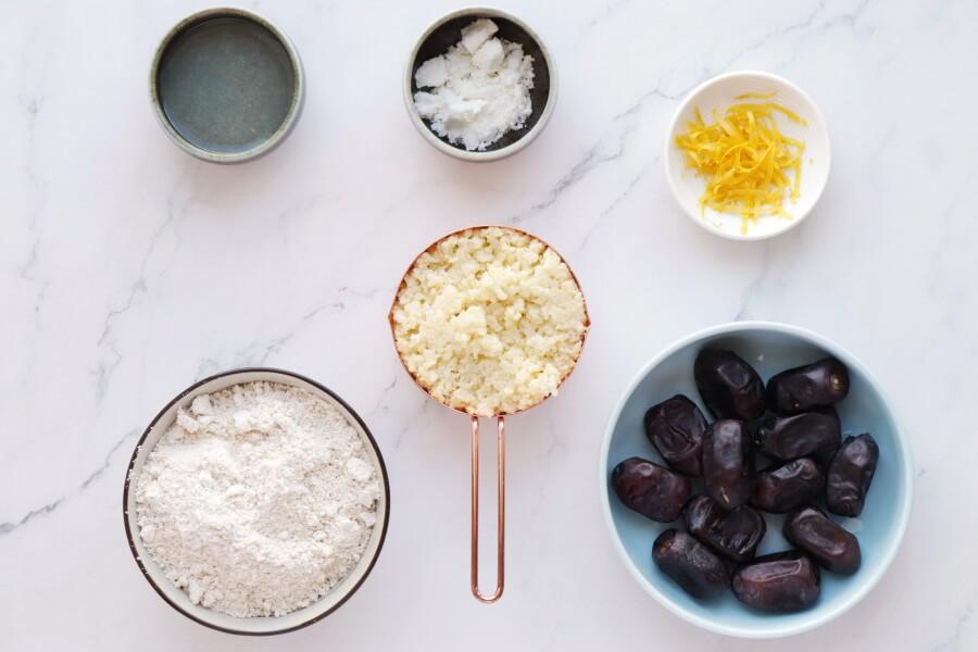 Ingridiens for Lemon Millet Bliss Balls