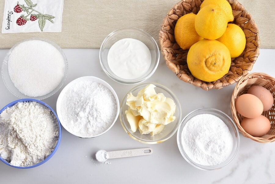 Ingridiens for Lemon Sponge Cake