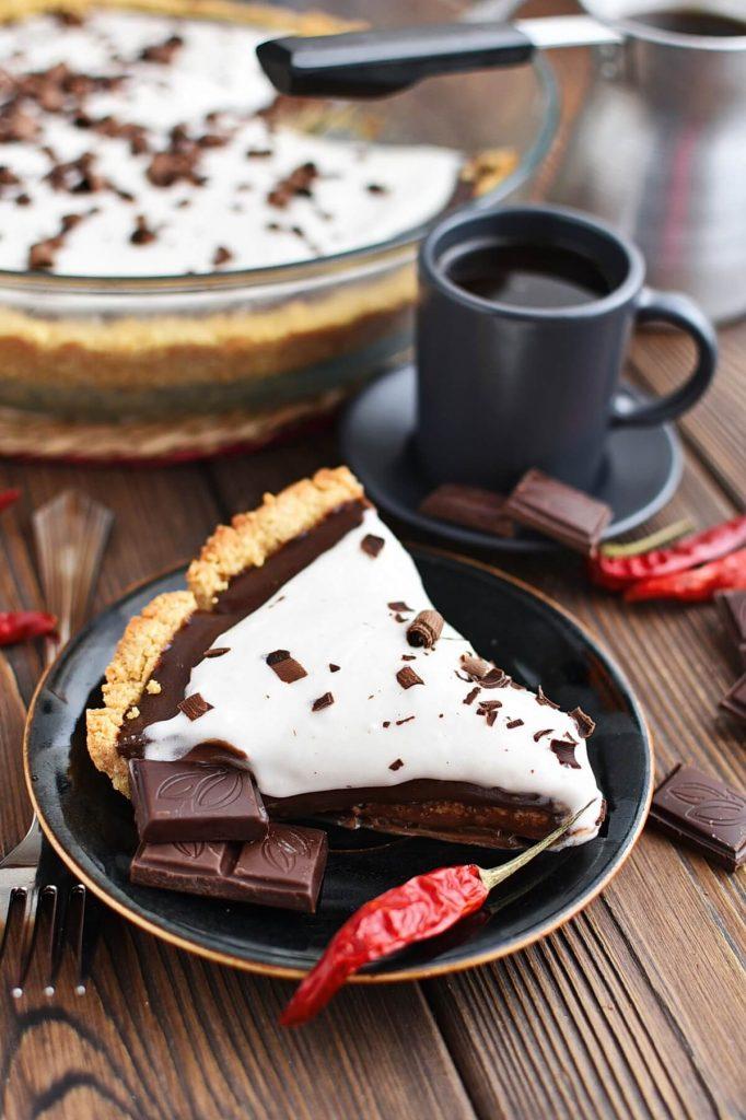 Creamy, spicy chocolate pie