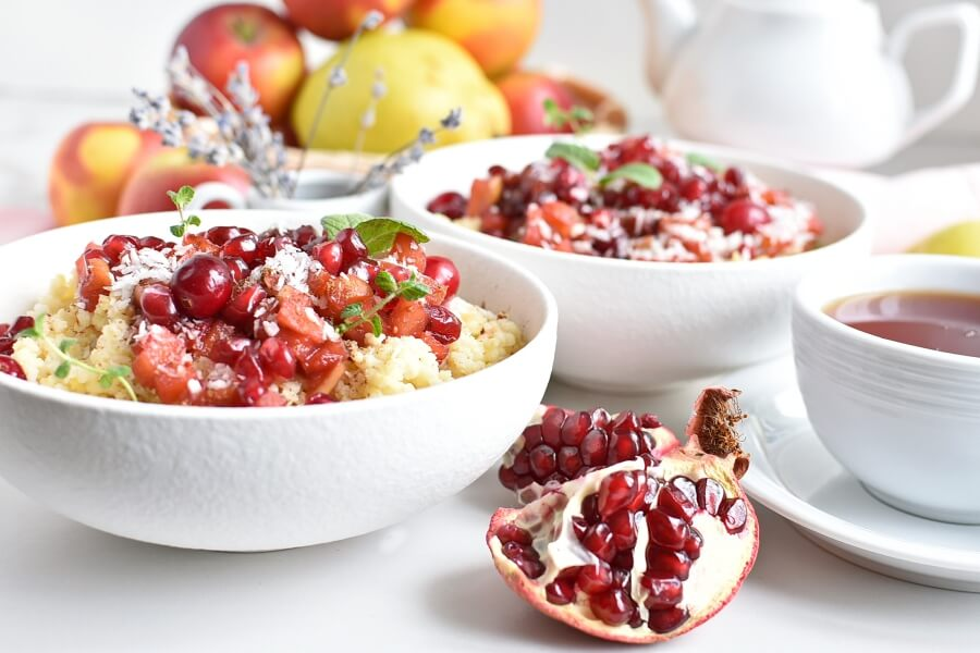 Millet Porridge with Cranberries and Fruit Recipes-Homemade Millet Porridge with Cranberries and Fruit-Delicious Millet Porridge with Cranberries and Fruit