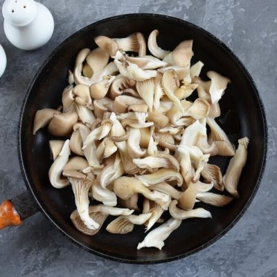 Pea Shoot Pancakes with Oyster Mushrooms recipe - step 5