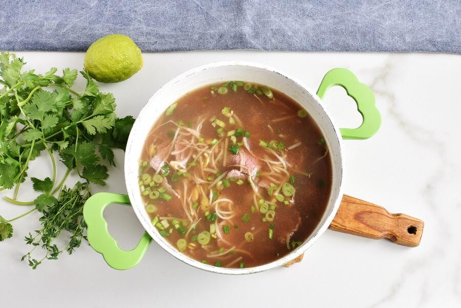 Pho Bo with Microgreens recipe - step 4