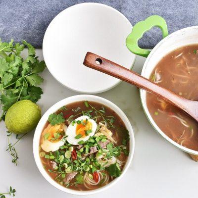 Pho Bo with Microgreens recipe - step 5