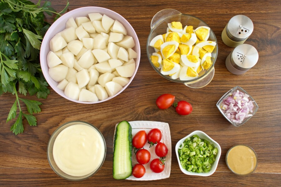 Picnic Potato Salad with Eggs Recipe-Classic Picnic Potato Salad Recipe-How to make Picnic Potato Salad