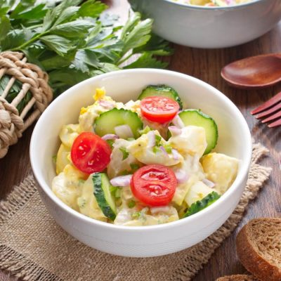Picnic Potato Salad with Eggs Recipe-Classic Picnic Potato Salad Recipe-How to make Picnic Potato Salad