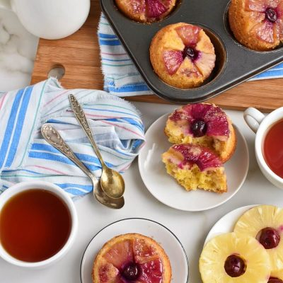 Pineapple Upside-Down Cupcakes Recipes–Homemade Pineapple Upside-Down Cupcakes – Delicious Pineapple Upside-Down Cupcakes