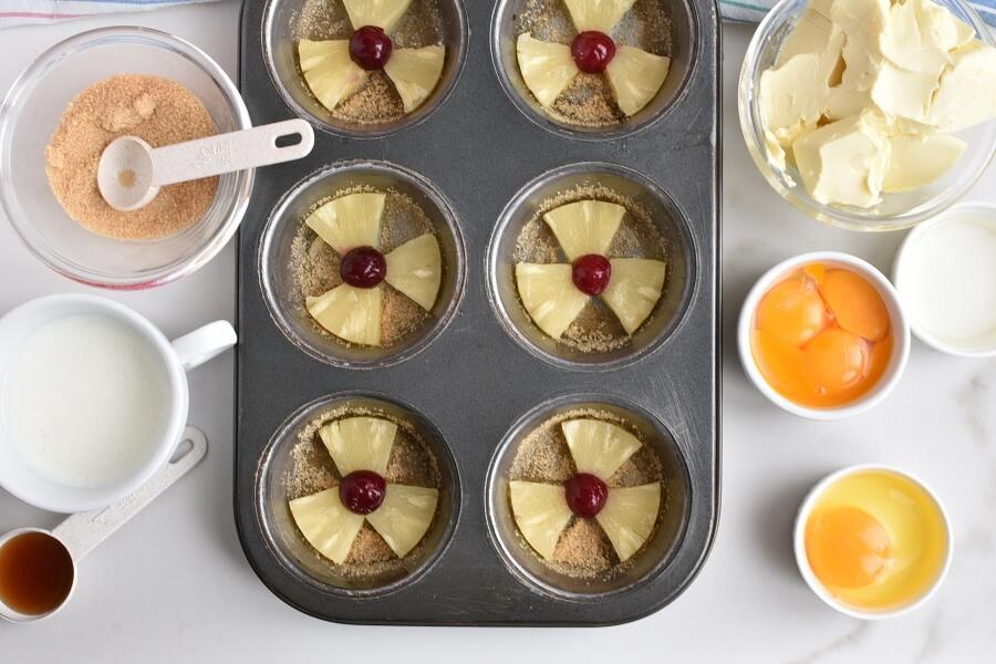 Pineapple Upside-Down Cupcakes recipe - step 6