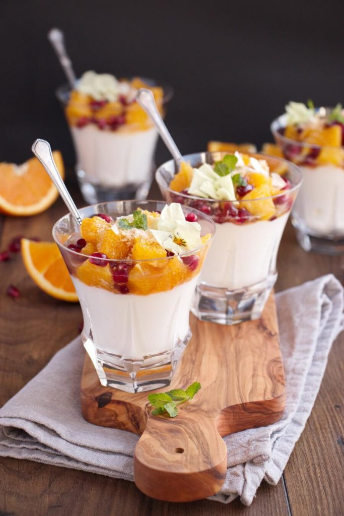 Sweet Fruit Salad with Yogurt and Toasted Coconut