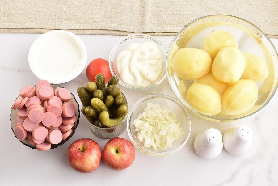 Ingridiens for Potato Salad Cake