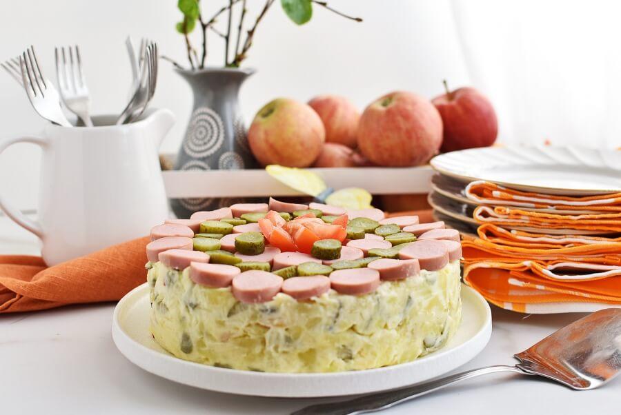 Potato Salad Cake Recipes–Homemade Potato Salad Cake–Easy Potato Salad Cake