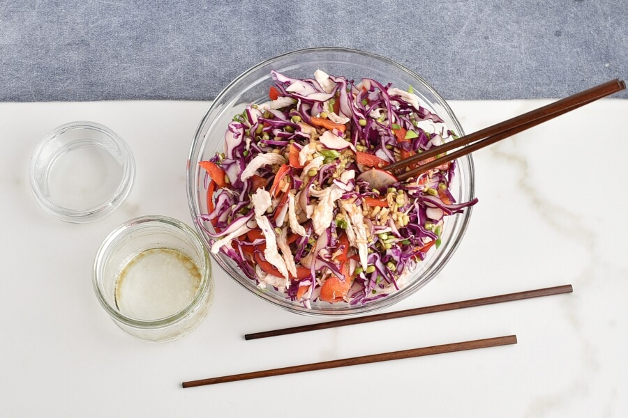 Red Cabbage Salad with Shredded Chicken recipe - step 3