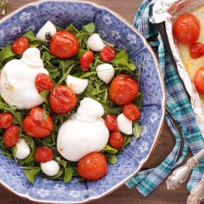 Roasted Tomato and Burrata Caprese Salad recipe - step 4