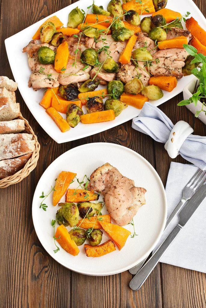Sheet-Pan Chicken & Brussels Sprouts Recipes–Homemade Sheet-Pan Chicken & Brussels Sprouts–Easy Sheet-Pan Chicken & Brussels Sprouts