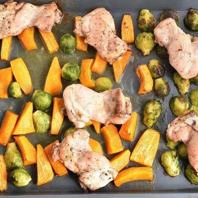 Sheet-Pan Chicken & Brussels Sprouts recipe - step 5