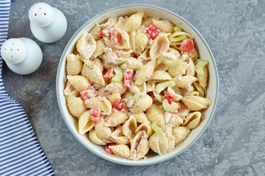 Simple Tuna Macaroni Salad recipe - step 5