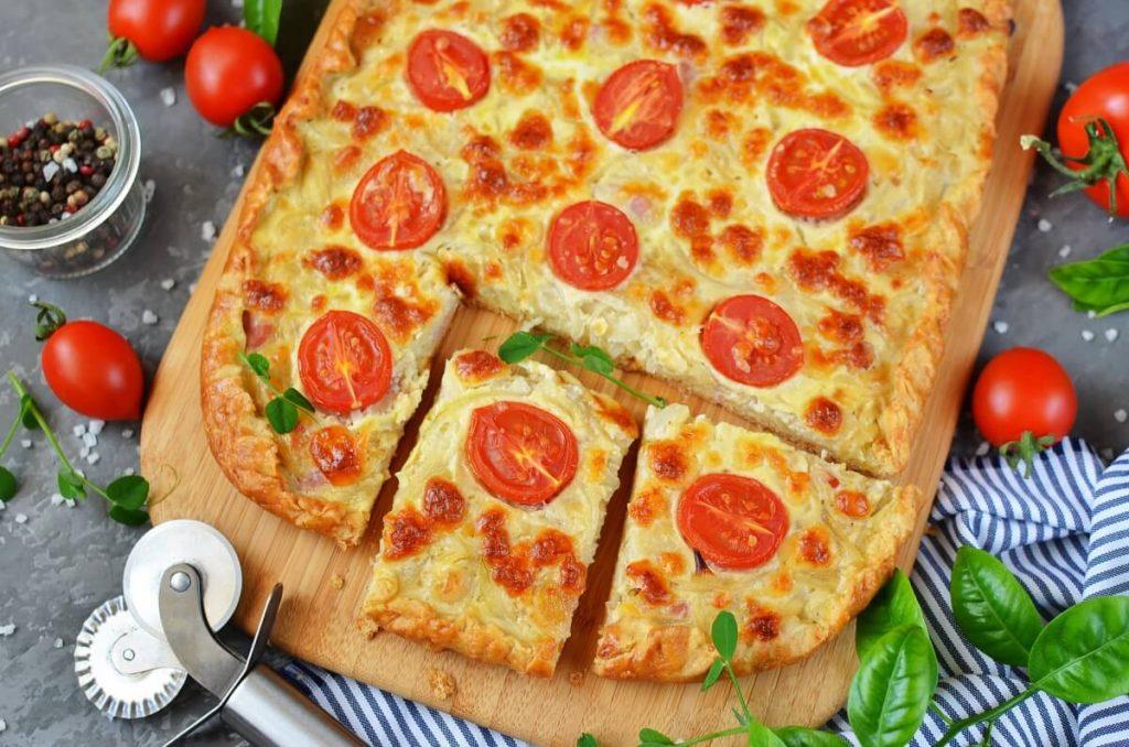 How to serve Smoky Cheese  & Onion Tart