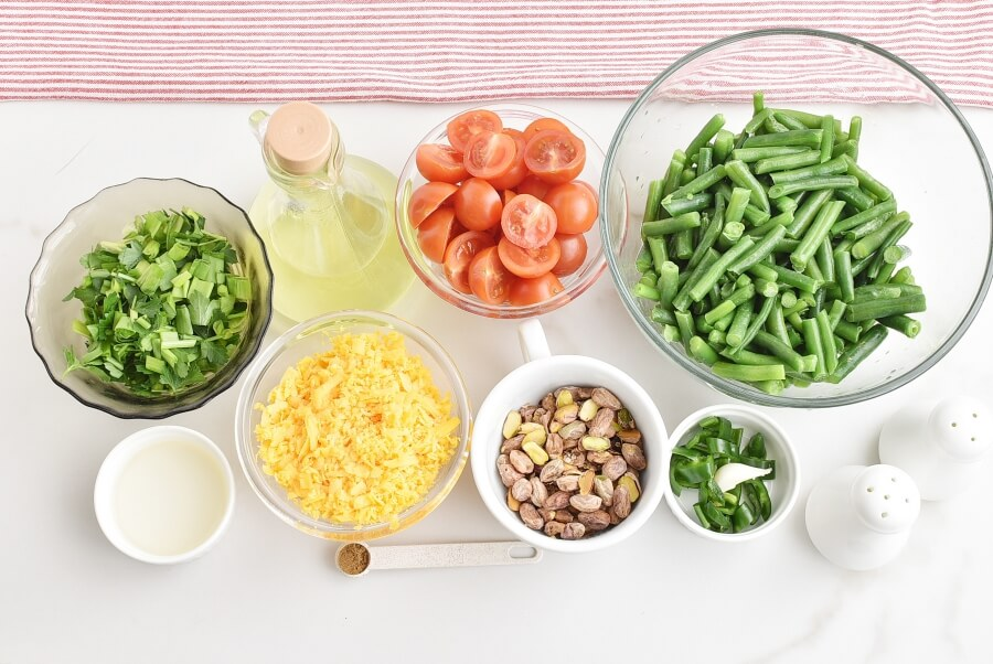 Ingridiens for Tomato & Green Bean Casserole