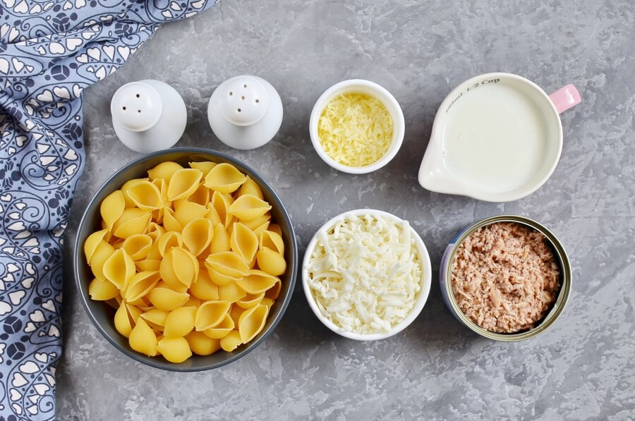 Tuna and Shells With Cheese Recipe-How To Make Tuna and Shells With Cheese-Homemade Tuna and Shells With Cheese