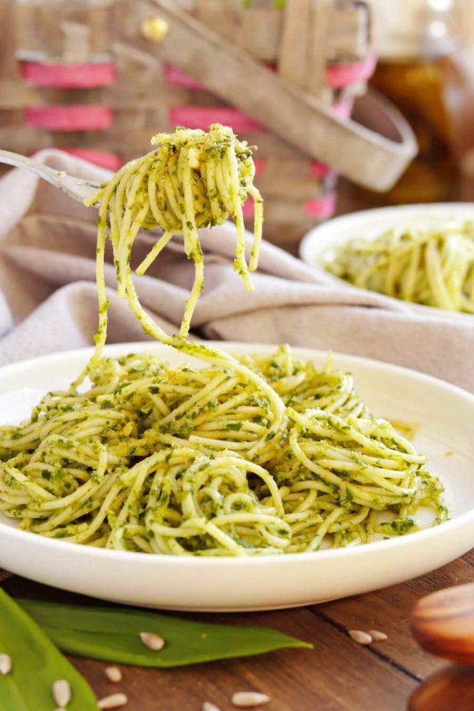 Vegan Wild Garlic Pasta