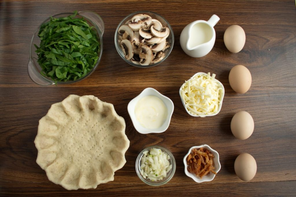 Ingridiens for Weeknight Spinach Quiche