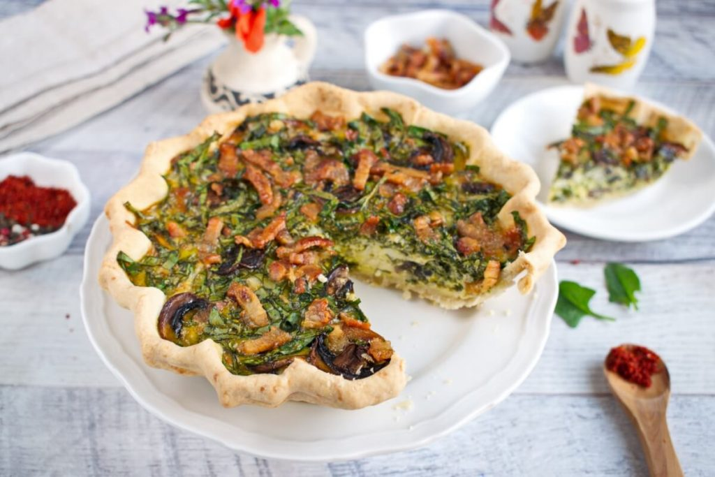 How to serve Weeknight Spinach Quiche