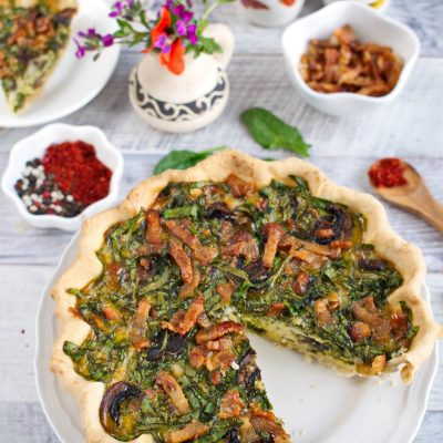 Weeknight Spinach Quiche recipe-Easy Weeknight Quiche-How to make Spinach Quiche