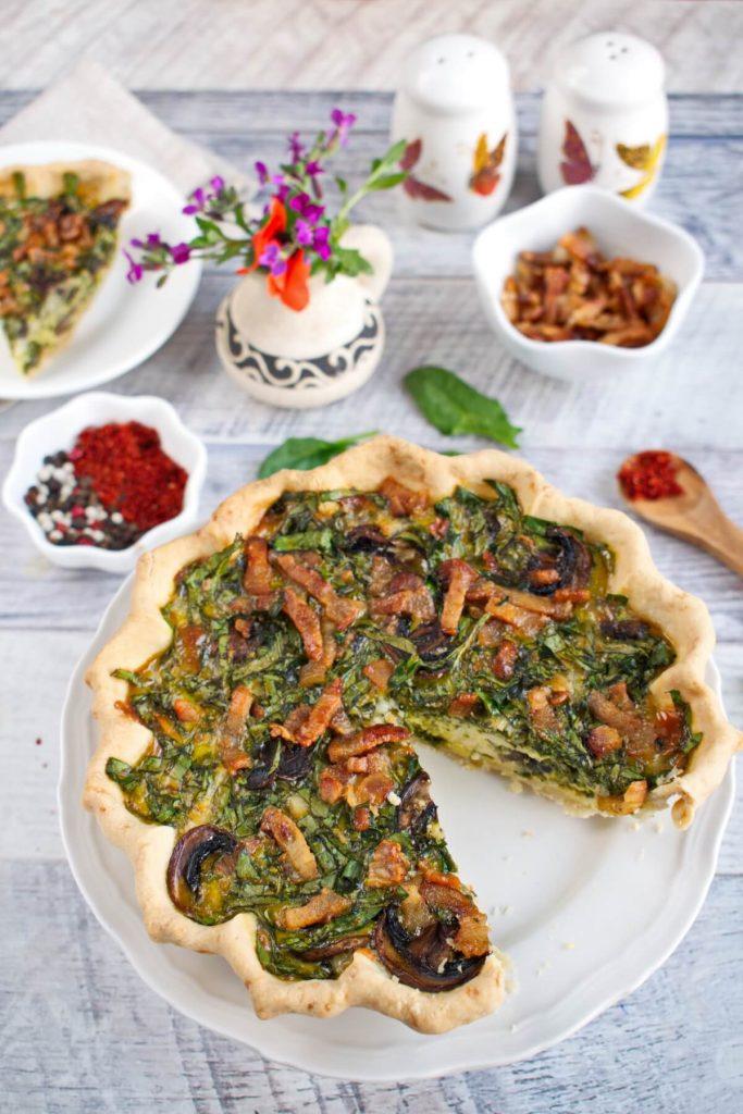 Weeknight Spinach Quiche