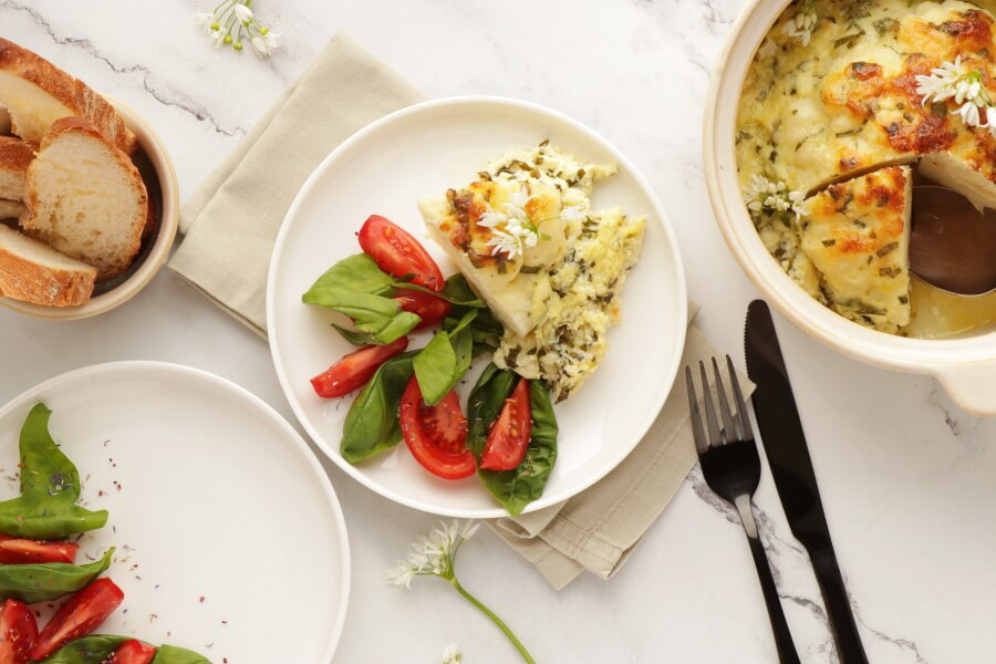 How to serve Whole Roast Cauliflower Cheese with Wild Garlic