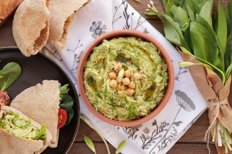 How to serve Wild Garlic Hummus
