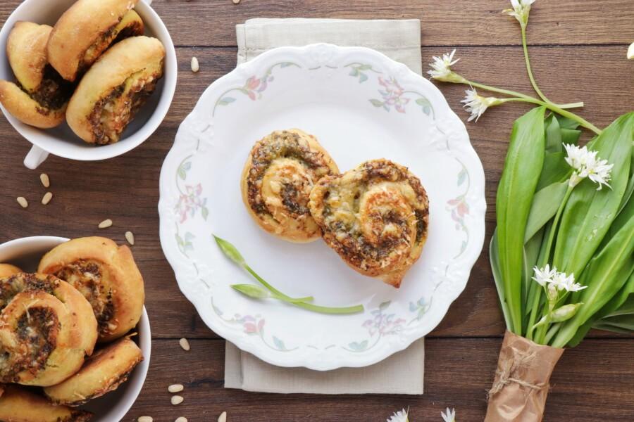 How to serve Wild Garlic Pesto Pinwheels