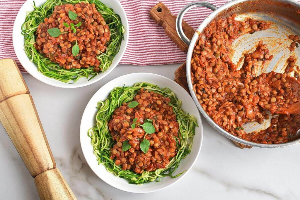30 Minute Spicy Lentil Bolognese Recipes–Homemade 30 Minute Spicy Lentil Bolognese–Easy 30 Minute Spicy Lentil Bolognese