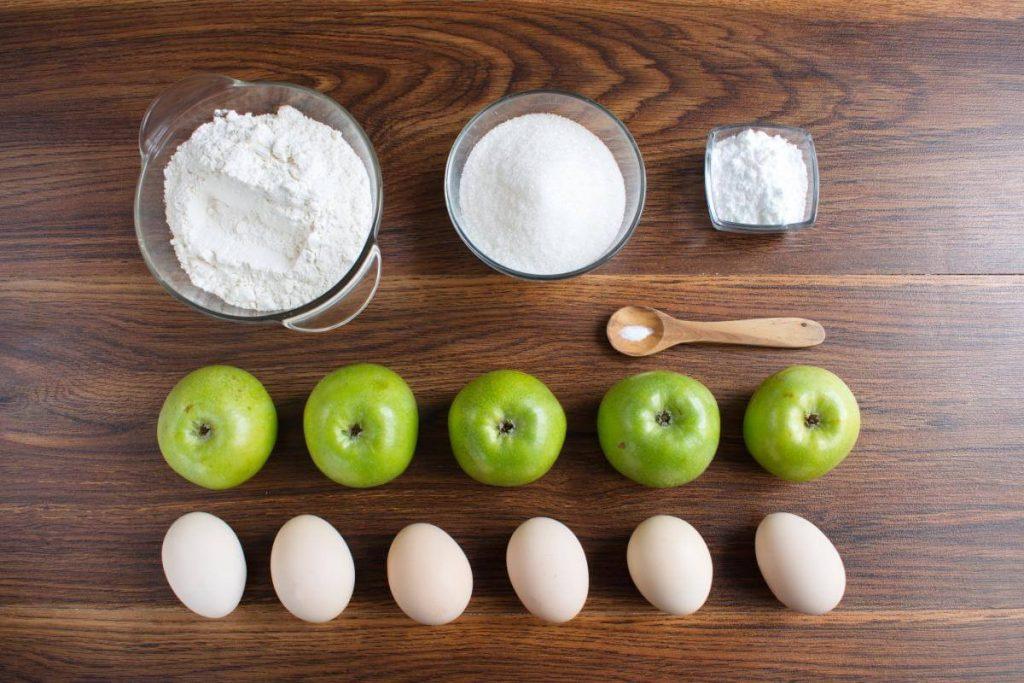 Ingridiens for Sharlotka (Russian Apple Cake)