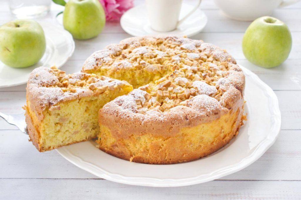 Apple Sharlotka (Russian Apple Cake) recipe - Apple Sharlotka Recipe - Easy Sharlotka Apple Cake
