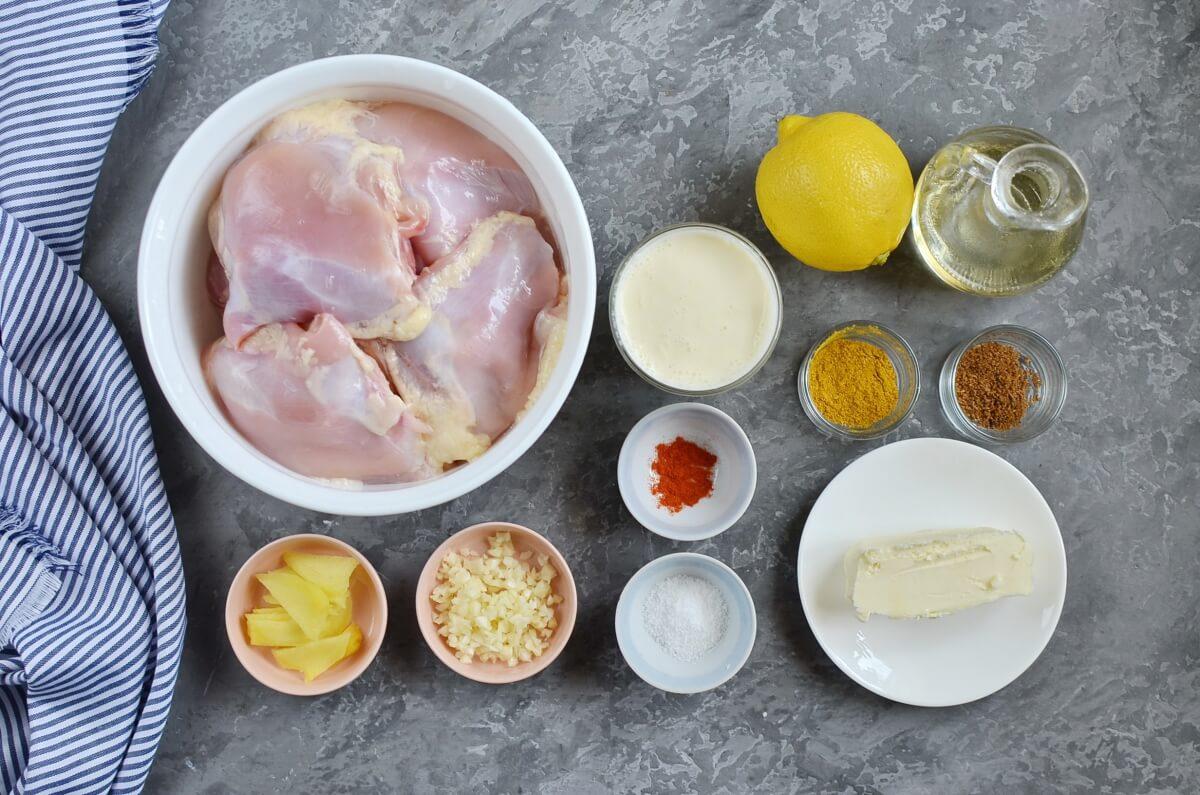 Ingridiens for BBQ Tandoori-style Chicken