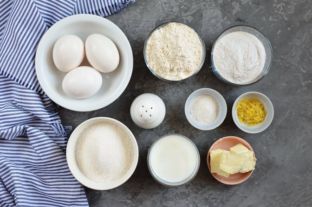 Ingridiens for Bolos de Arroz (Portuguese Rice Muffins)