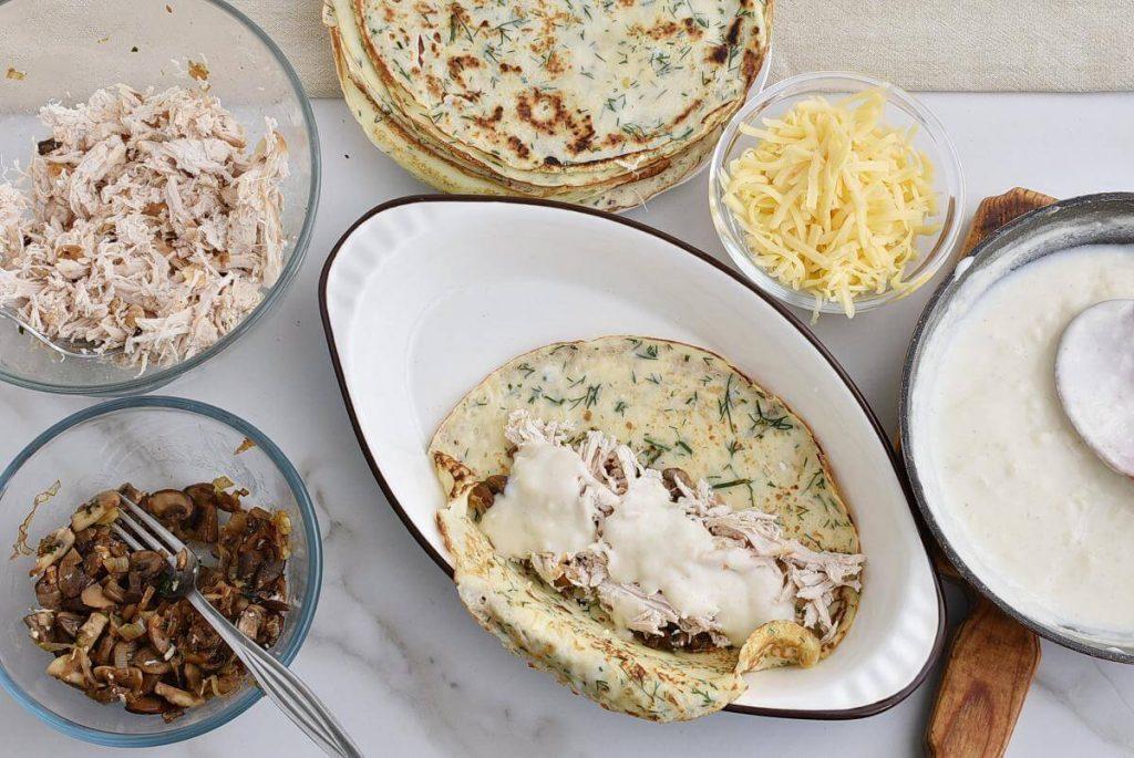 Chicken and Mushroom Crepes recipe - step 15