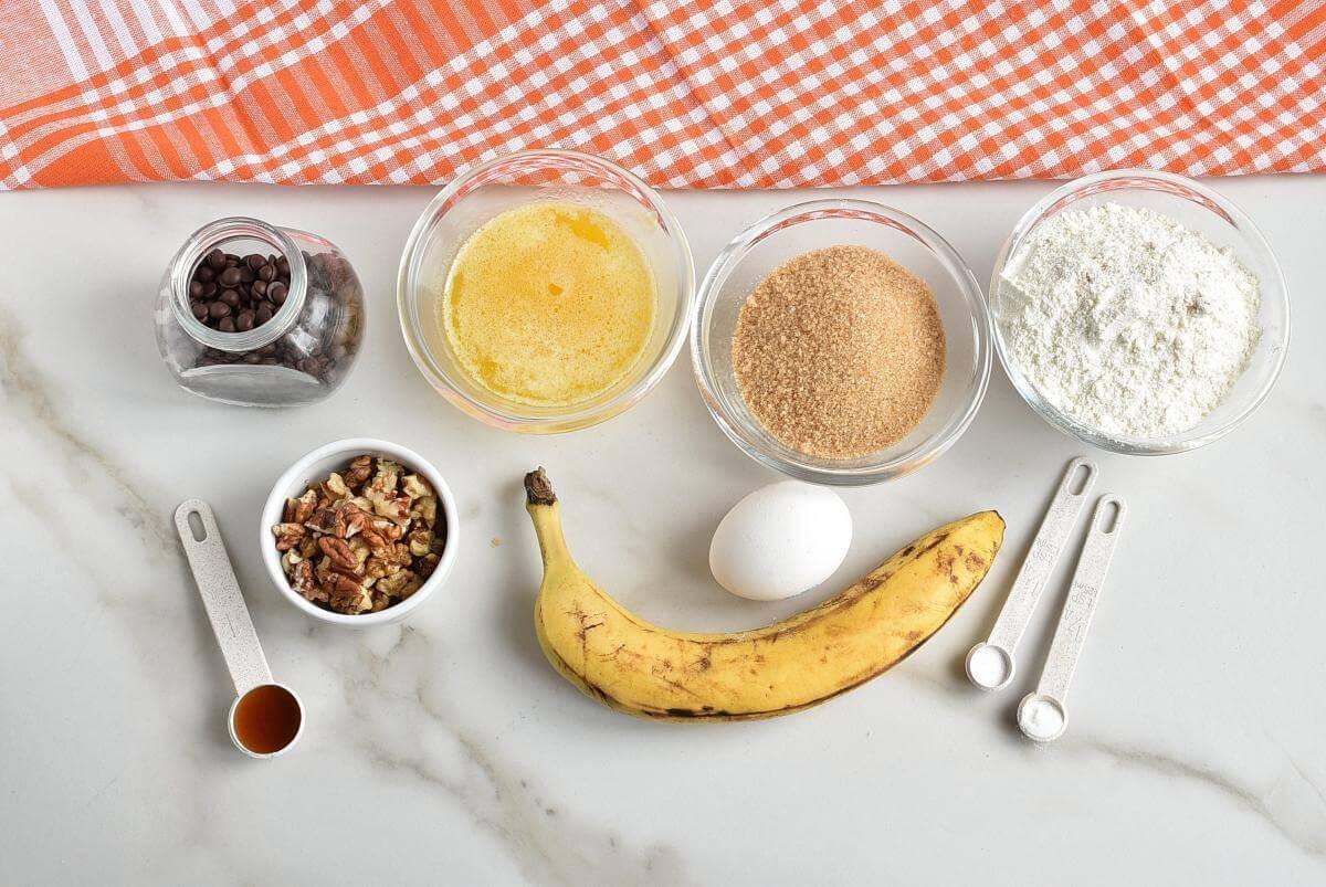 Ingridiens for Chocolate Chip Banana Bread Blondies
