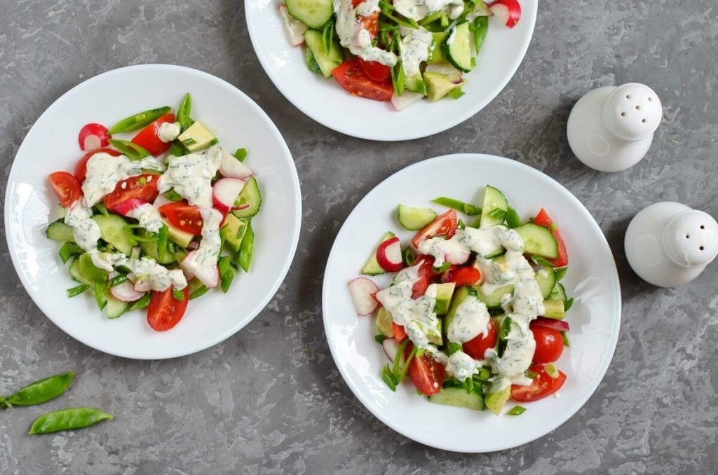 How to serve Chopped Spring Salad