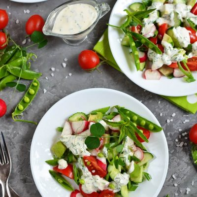 Chopped Spring Salad Recipe-How To Make Chopped Spring Salad-Delicious Chopped Spring Salad