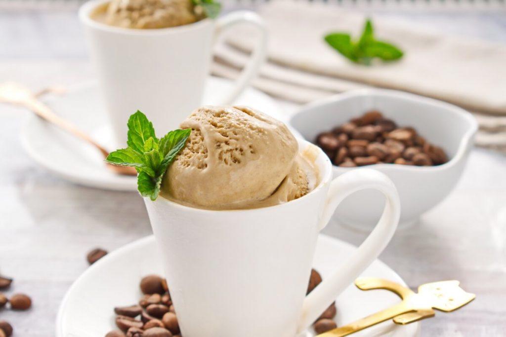 How to serve Coffee Ice Cream