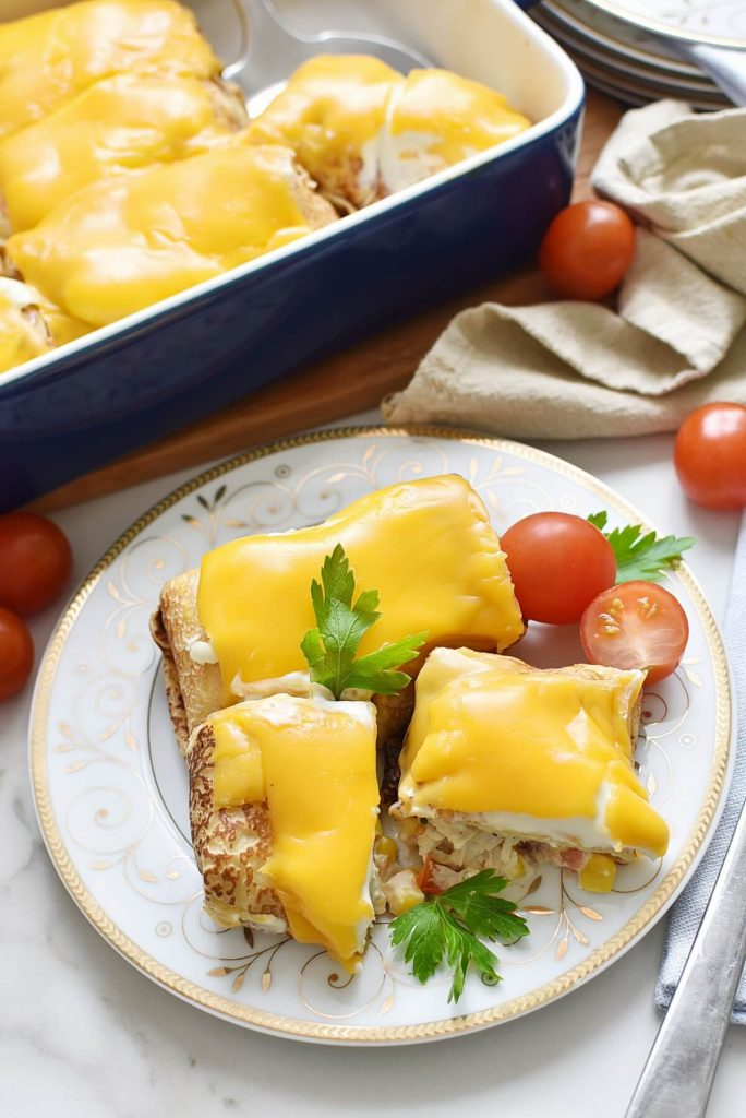 Crêpes Stuffed with chicken & cream cheese Recipes–Homemade Crêpes Stuffed with chicken & cream cheese–Delicious Crêpes Stuffed with chicken & cream cheese